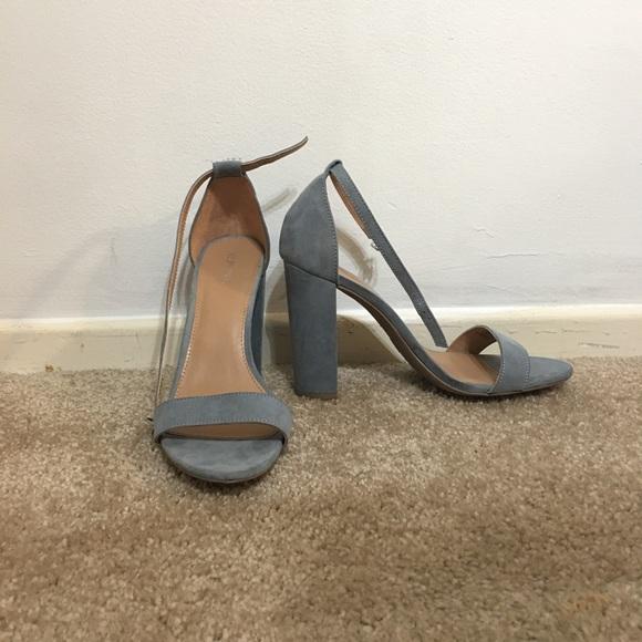 Merona Shoes | Dusty Blue Block Heels